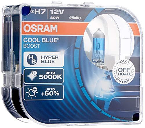 Osram 62210cbb-hcb cool blue hyper+ h7 off road faro lampadina, duo box