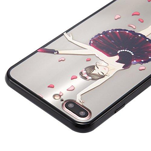 Custodia iPhone 7 Plus, iPhone 7 Plus Cover Silicone, SainCat Custodia in Silicone Morbida e Hard PC Protettiva Cover per iPhone 7 Plus, Custodia Antiurto Ultra Slim Silicone Case Ultra Sottile Soft T Tutu