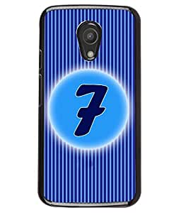 Fuson 2D Printed Numerology Designer back case cover for Motorola Moto G2 2nd Gen. - D4224
