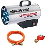 Rothenberger 150000051 Industrial Gas – uppvärmning – kanon/fläkt RoTurbo 19000 inkl. piezo-tändning, slang och regulator, 18