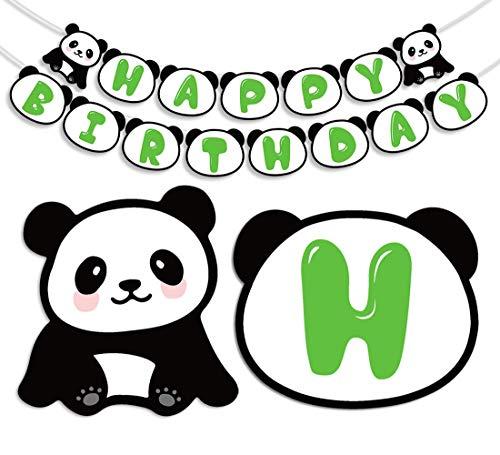 Gute zum Geburtstag Banner, schöne Panda Geburtstag Brief Banner für Kinder Geburtstag Dekorationen ()