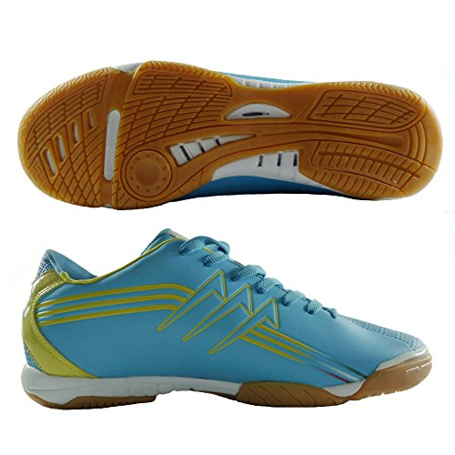 AGLA PROFESSIONAL NEW FIVE INDOOR scarpe calcetto con anti-shock Celeste