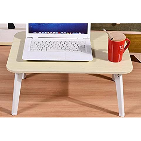 XXTT-Escritorio del ordenador portátil de moda, cama con pequeña mesa plegable, escritorio minimalista dormitorio ,