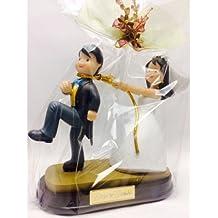 Figura boda PERSONALIZADA novios graciosos tarta GRABADA