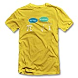 Get Real Be Rational T-Shirt gelb-yellow L