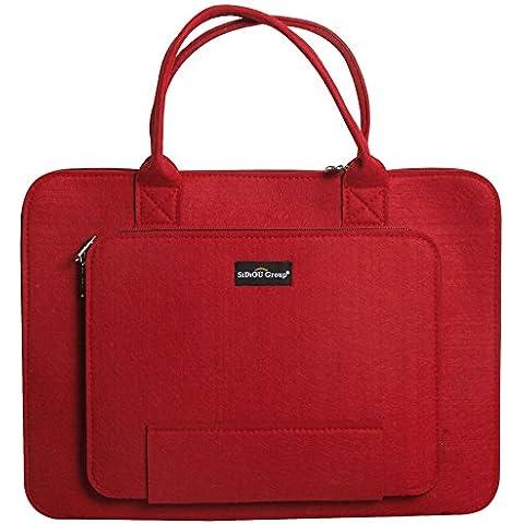 Sidiou Group Fashion bolsa de ordenador portátil Tablet PC paquete de caja de la manga de la tela impermeable del bolso del ordenador portátil (14 pulgadas,