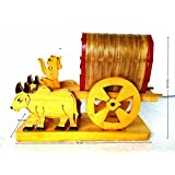 WOODEN HANDCRAFTED - ALL PURPOSE KIDS TOYS (ONE)- GIFT ITEMS - ANTIQUE SHOW PIECE OF BULLOCK CART- HOME DECOR CUM KIDS TOYS -GIFT ITEMS