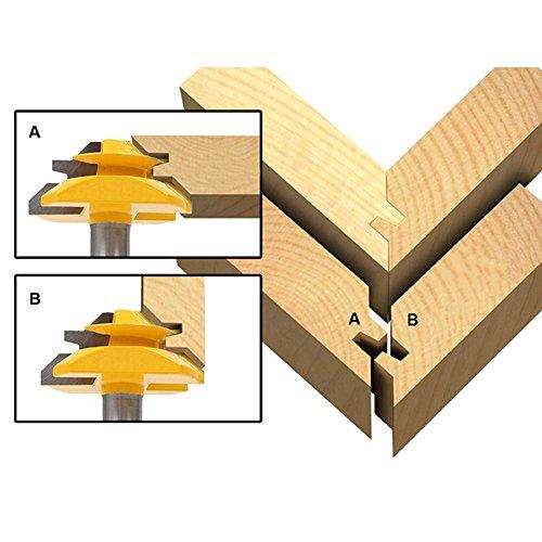 8 mm Schaft SGerste Fr/äser-Bit Fr/äser 45 Grad f/ür Holzbearbeitung Gehrung