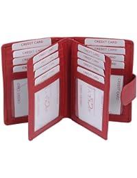 Ausweis und Kreditkartenmappe LEAS in Echt-Leder, rot - ''LEAS Card-Collection''