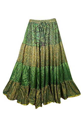 Mogul Interior Damen A-Linie Rock grün grün Green 3