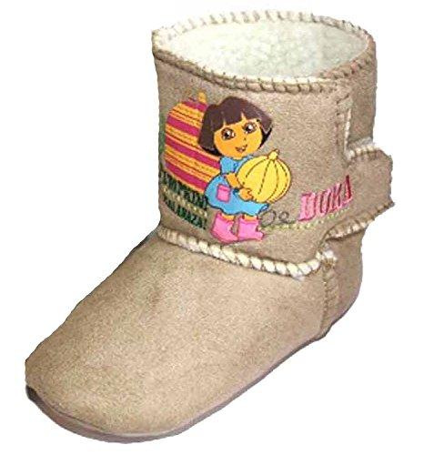 Stiefel Aus Dora The Explorer - Mädchen Slipper-Stiefel mit Dora Kürbis Aufdruck