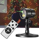 Gr4tec Lámpara de Proyector Foco de Luz Pared Dibujo de Navidad Estrella Nieve Modo de Luz Velocidad Temporizador Impermeable para exterior interior hasta 10 Metros Decoración para Hogar Fiesta Boda Carnaval Jardín Rotación de Proyección 300°