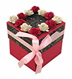 Crack of Dawn Crafts-3 Layered Romantic Explosion Box - Pink Love