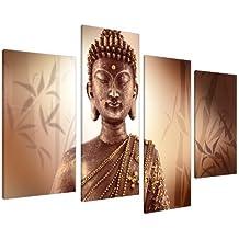 Cuadros enLienzo Grande Buda Marrón Imagenes XL Bambú Zen 4101