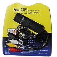 EasierCap Capturadora/Conversor de Vídeo USB 2.0 - Compatible con Windows 10, 8, 7, Vista y XP