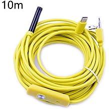 Steellwingsf 6 LED 7mm lente endoscopio impermeable inspección borescopio cámara para Android amarillo amarillo ...