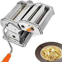 Todeco - Macchina Per La Pasta, Fare La Pasta - Spessore di taglio: 6 diverse impostazioni dello spessore da 0,5 a 3mm - Materiale: Acciaio inossidabile - Spaghetti, tagliatelle, lasagne