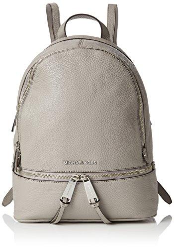 Michael Kors - Rhea Md Backpack, Bolsos mochila Mujer, Gris (Pearl Grey), 13x27x31 cm (W x H L)