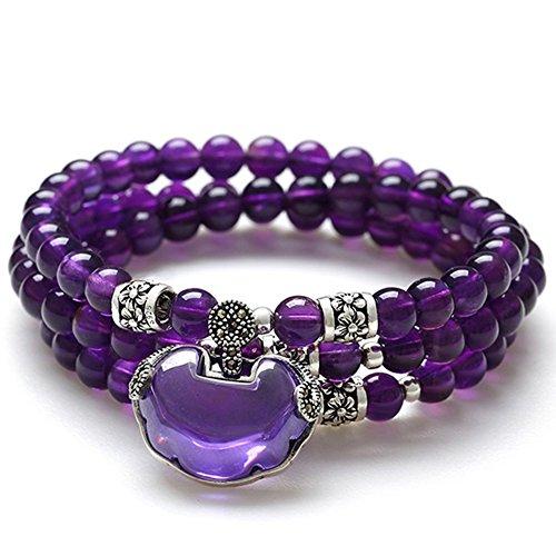 Bracelet améthyste/ multi-bijoux/Bracelets de cristal naturels douces/ bijoux B