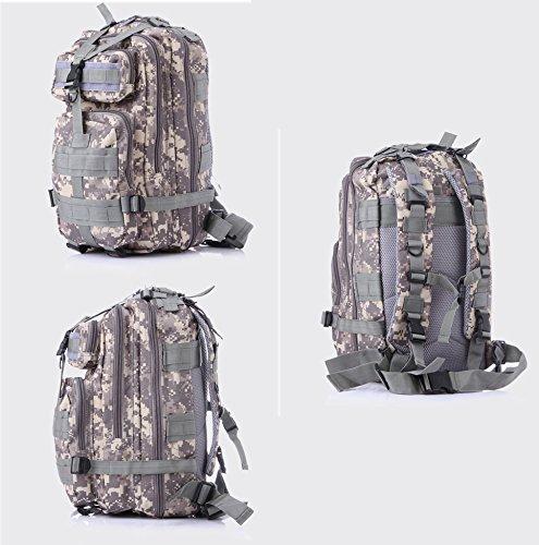 Minetom Unisex Polyester Erwachsene Rucksack Camping Wandern Reisen Trekkingrucksäcke Wanderrucksäcke Taktischer Rainproof Pixels Violett