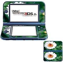 Flores 10070, Flor Blanca, Pegatina de piel cubierta de vinilo con laminado efecto de cuero y diseño colorido para New Nintendo 3DS XL Sticker