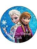 Disney Frozen Neuheit 19,1cm rund Essbar Geburtstag Kuchen Topper