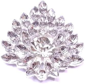 42mm autocollant fleur de diaFemmete serti cristal mariage rondelles, Broche mt-39 B00ICP19GE | économique Et Pratique