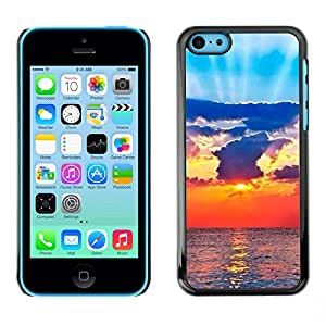 Omega Covers - Snap on Hard Back Case Cover Shell FOR Apple iPhone 5C - Sun Ray Sea Clouds God Spiritual