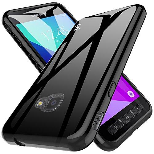 LK Samsung Galaxy Xcover 4 Hülle, Ultra Schlank Dünn TPU Gel Gummi Weiche Haut Silikon Anti-Kratzer Schutzhülle Abdeckung Case Cover (Schwarz)