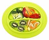 Kinderteller, Babyplatte mit Anti-Rutsch Oberfläche, BPA-frei, rutschfest, aus Silikon, ideal zum Essen lernen für Kleinkind und Baby