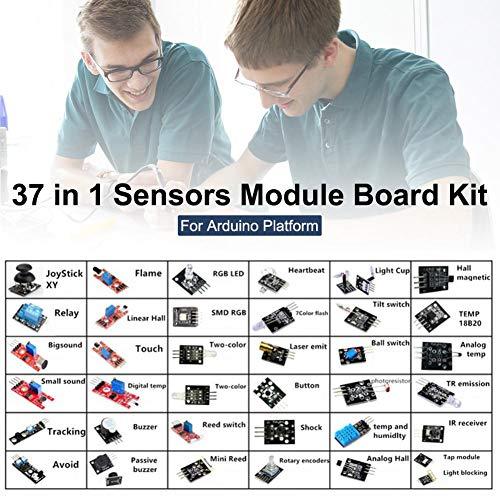 Basisago 37 in 1 Starter Kit per Sensori Nano Completo di Progetti Elettronici per Progetti di Elettronica, Arduino Uno R3 Mega2560