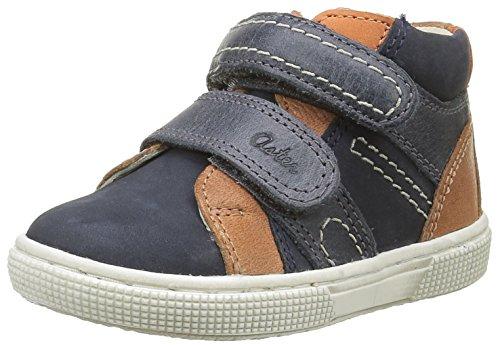 Aster Chuck, Chaussures Premiers Pas Bébé Garçon Bleu (Marine Camel)