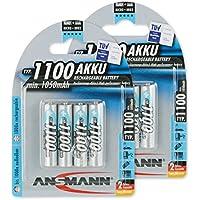 ANSMANN 5035232-590 Micro Aaa Tipo 1100Mah ad Alta Capacità Utilizzatori Frequenti/Professionisti Fotocamere Digitali Batteria 8 Pz