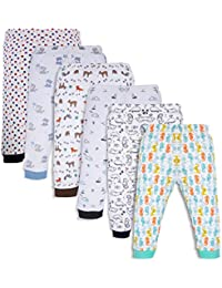 Mini Cult Unisex Baby's Cotton Pajama Pants with Rib