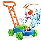 SYXZ Macchina per Bolle, Macchina per soffiare Bolle Bubble Walker per rasaerba elettronico con Musica Giochi da Esterno Push Giocattoli per Bambini Bambini,Verde