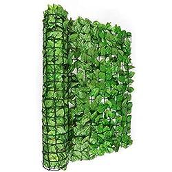 Blumfeldt Fency Bright Ivy • Clôture Pare-Vue • Clôture Brise-Vue • Paravent • Montage Simple et Rapide • Grillage métallique enrobé de Plastique • Attaches Vertes incluses • Lierre Vert Clair