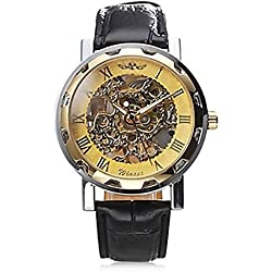 Men's Watch Mechanical Hollow Engraving Skeleton Wirstwatches for Men Business Watches Fashion Casual