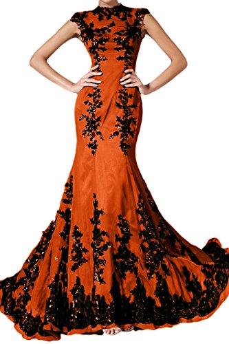 ivyd ressing Femme élégant motif dentelle Mermaid longue mousseline Lave-vaisselle robe robe du soir Orange