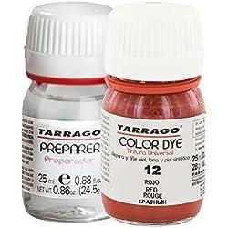 Tarrago Color Dye Tintura Color Autobrillante + Preparador 25 ml Rojo-12