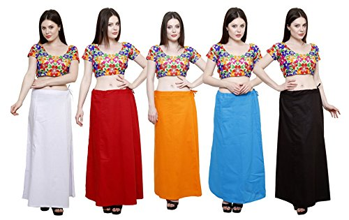 Pistaa combo of Women's Pure Cotton Milky White, Maroon, Orange, Turquoise Blue...