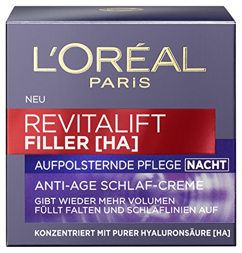 L'Oréal Paris Revitalift Filler Nacht, 2er Pack (2 x 50 ml)