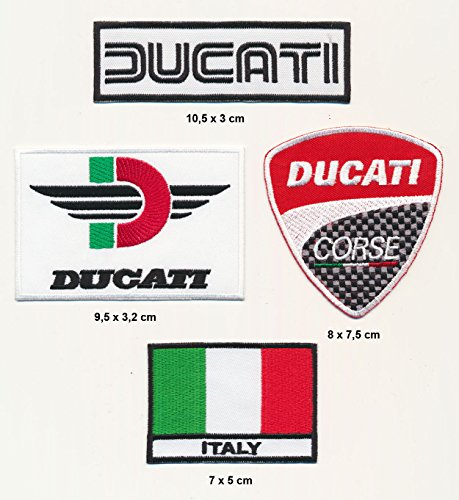 Ducati parche planchar Patch 4pieza motocicleta