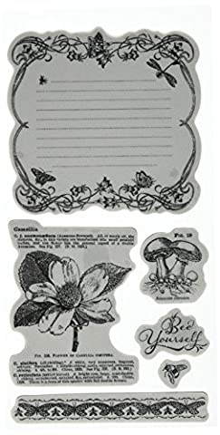 Graphic 45 IC0376 Nature Sketchbook Cling Stamp Set (3 of