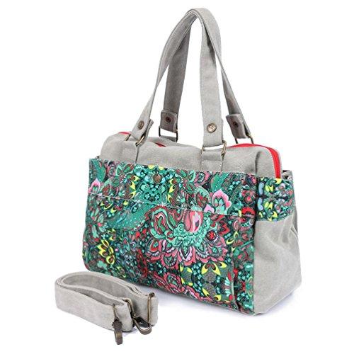 Leinwand a Umhängetasche Denim Frauen Umhängetasche optional Farbe Handtasche Chang Mode Spent XvUXwO