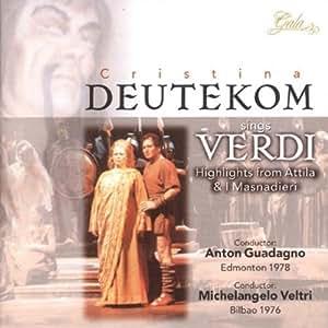 Highlights From Attila & I Masnadieri by Deutekom, Cristina (2013-05-24)