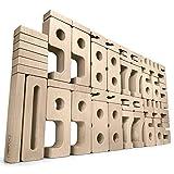 SumBlox Montessori Spielzeug Basis Set - 43 große Holz Bausteine aus massiver Buche in Form von Zahlen - Beim Spielen Mathematik, Zahlen, 1x1 (Einmaleins) und Rechnen Lernen, Pädagogisches Material