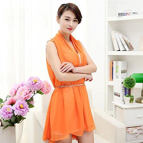 FEITONG Femmes Mode Longue Section Solid Color Of Serviette de plage Foulards Sunscreen Variété K