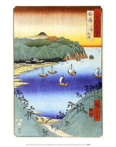 Utagawa Hiroshige Poster Kunstdruck Bild The Small Port and Inlet at Awa, 1856 36x28cm - Inlet Port