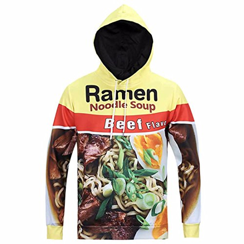 Men's 3D fummy Graffiti painted Harajuku Hoodies PaleGoldenrod