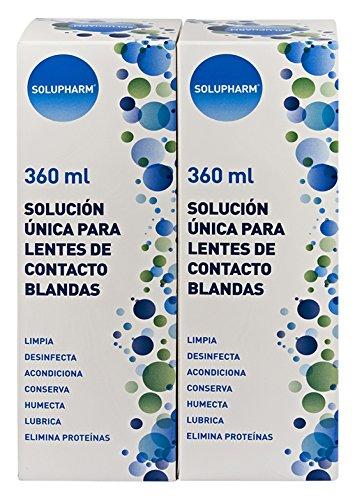 Solupharm Solución Única para Lentes de Contacto Blandas - Paquete de 2...